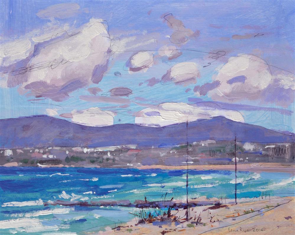 """March Sky – Costa da Caparica"" original fine art by Lena  Rivo"