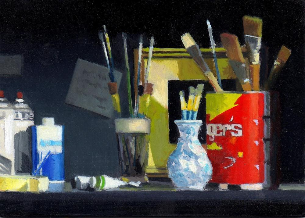 """Daily Diaper #271 The Studio Shelf"" original fine art by Brian Burt"