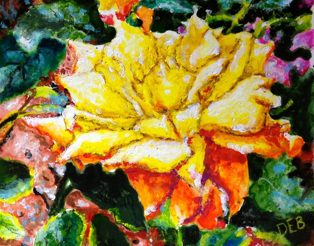 """Rose at Duke Mansion"" original fine art by Debbie Yacenda"
