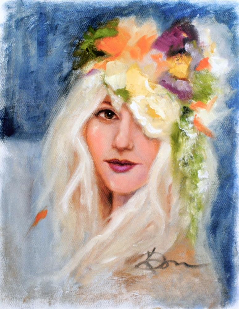 """Crown of Flowers"" original fine art by Kelly Berkey"