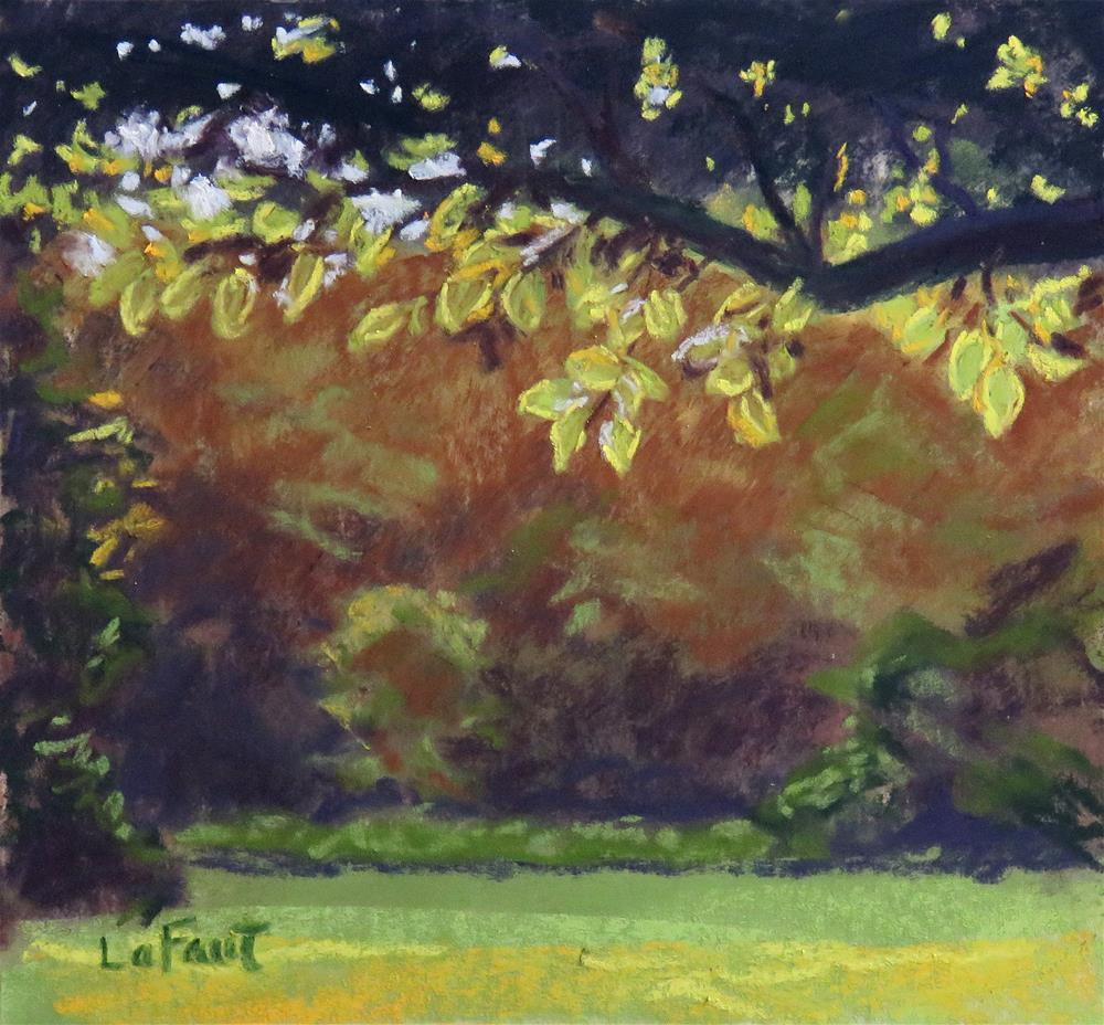 """Under the Apple Tree"" original fine art by Sandra LaFaut"