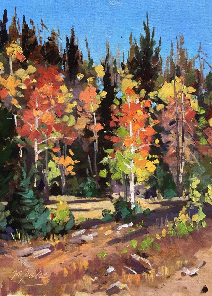 """A Moment of Fall"" original fine art by Mary Jabens"