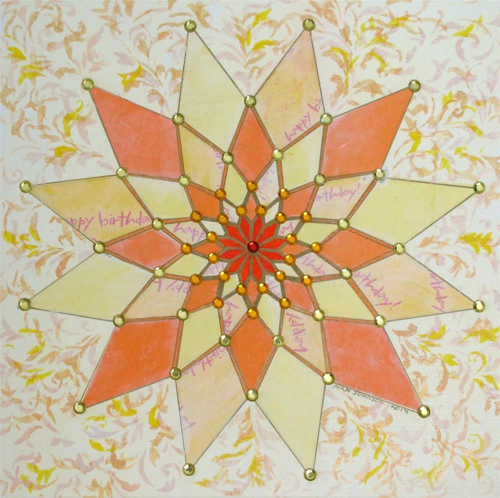 """Celebrate-Sun"" original fine art by Nan Johnson"