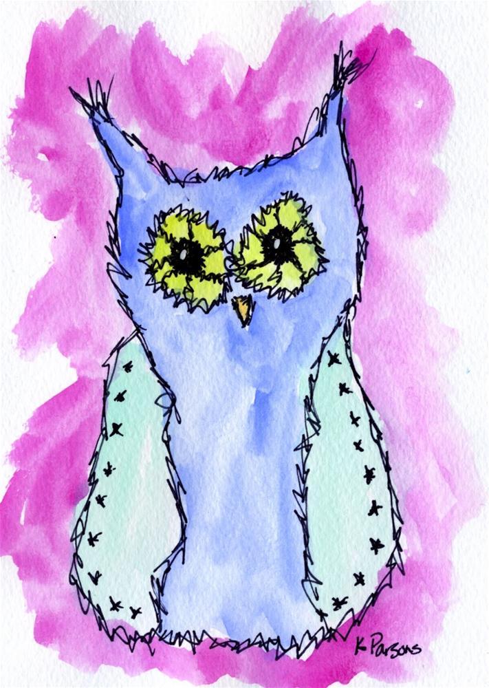 """Wisdom"" original fine art by Kali Parsons"