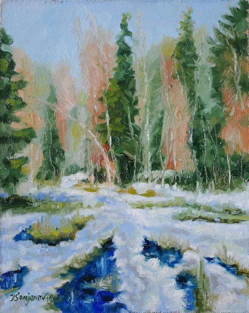 """spring begins"" original fine art by Yuriy Semyonov"