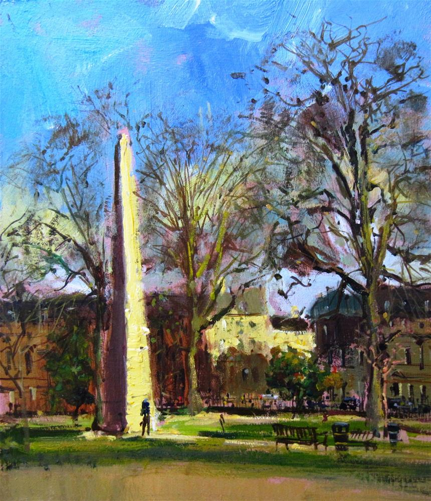 """Queen's Square, Bath"" original fine art by Adebanji Alade"