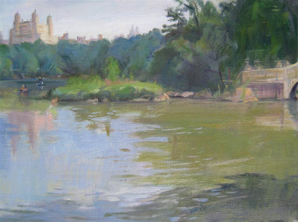 """The Bow Bridge, Central Park New York"" original fine art by Ann Buenaventura"