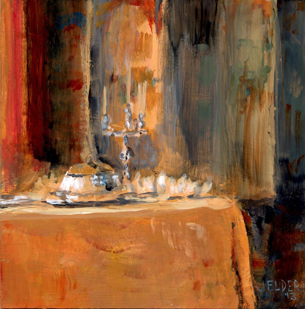 """Dinner Fit For a Queen"" original fine art by Judith Elder"