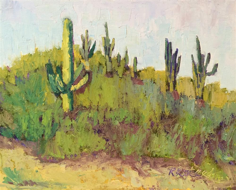 """Saguaro Forest"" original fine art by Roxanne Steed"