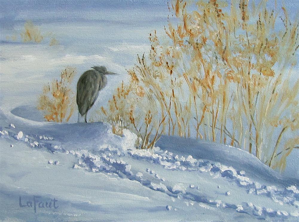 """Waiting for Spring Miniature"" original fine art by Sandra LaFaut"