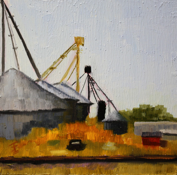 """West Texas Wayside"" original fine art by Jane Frederick"