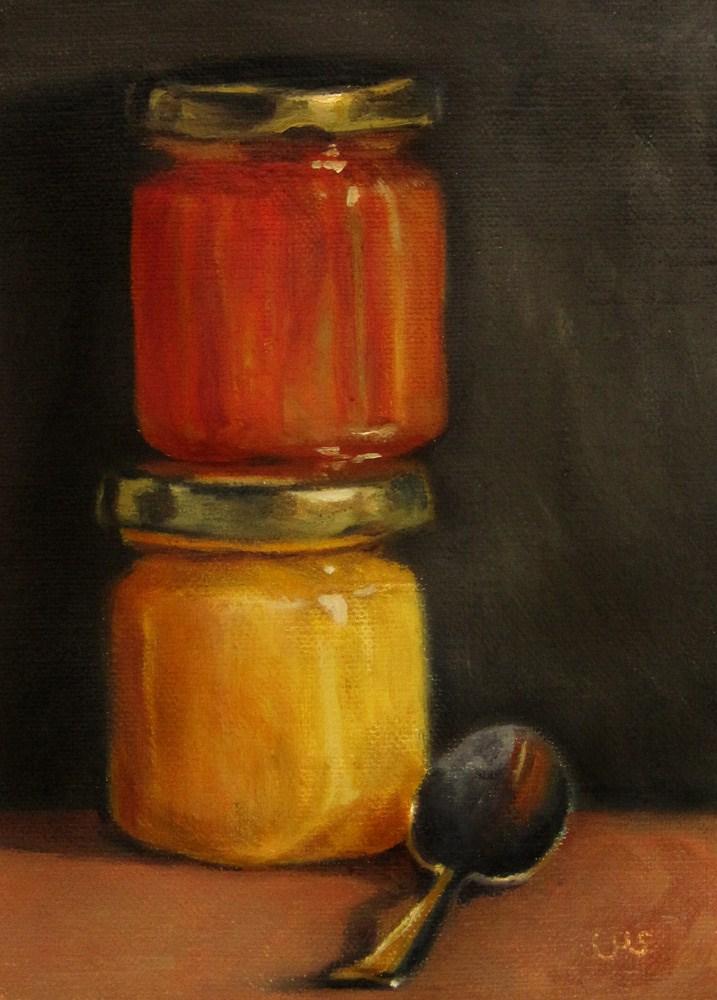 """Heather Honey 2"" original fine art by Ulrike Miesen-Schuermann"