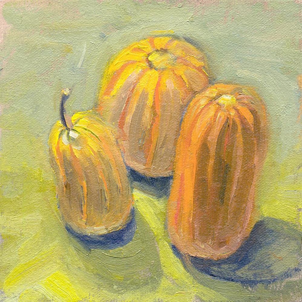 """""""Gourds"""" original fine art by Kath Reilly"""