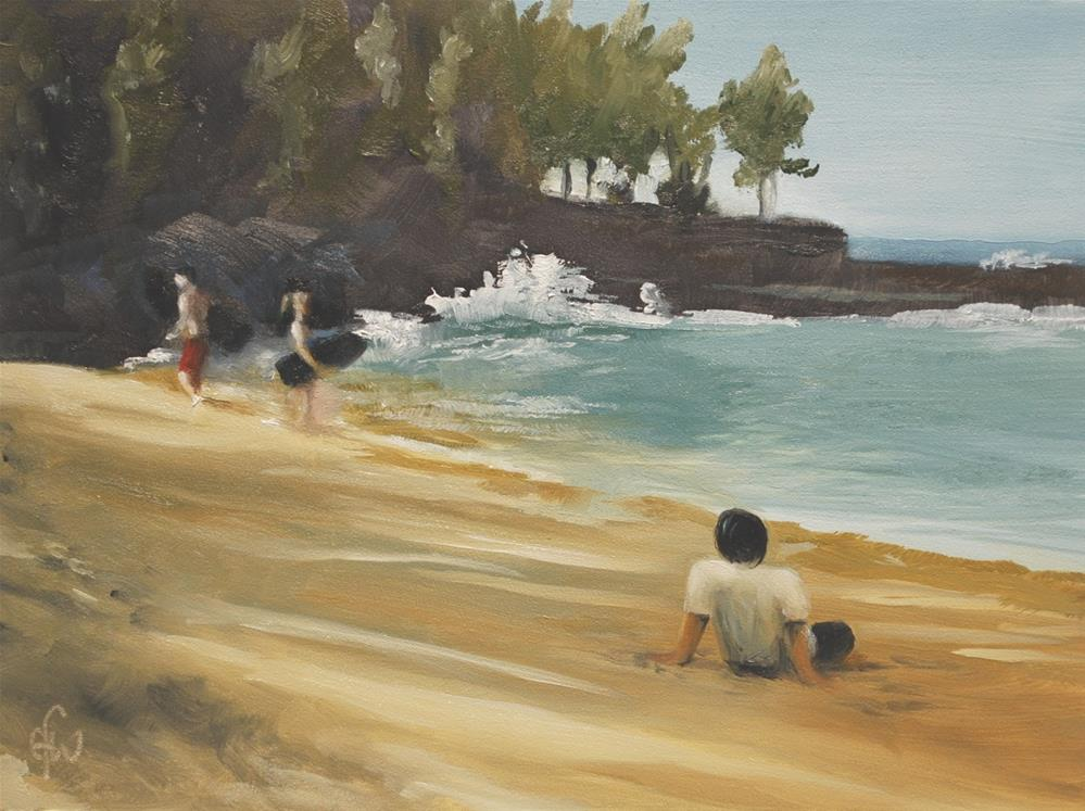 """Surfers"" original fine art by Gary Westlake"