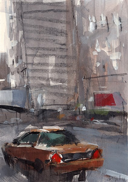 """Taxi - Sketch"" original fine art by David Lloyd"