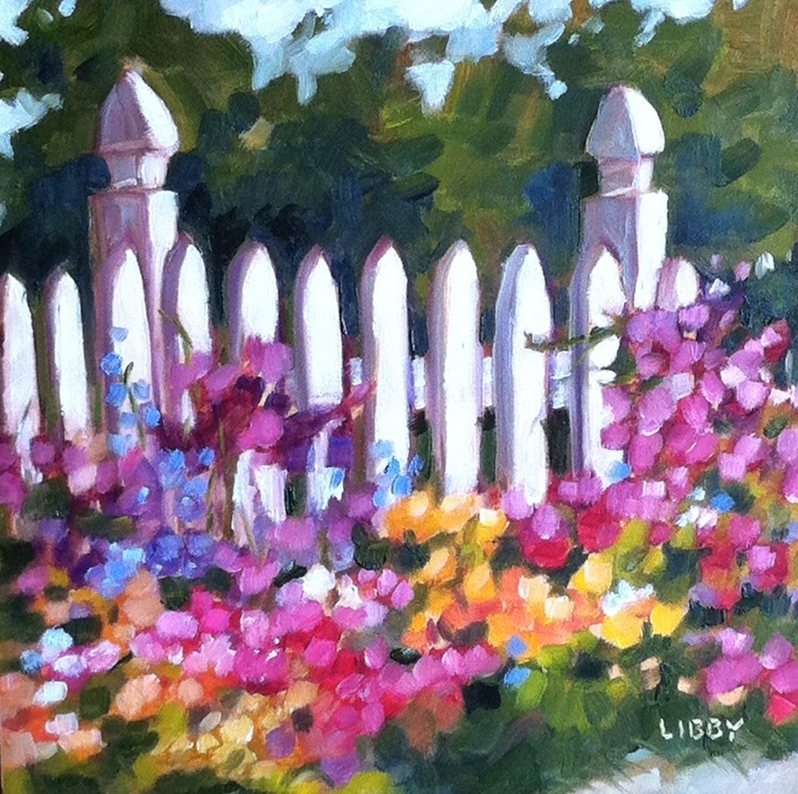 """Key to the Garden"" original fine art by Libby Anderson"