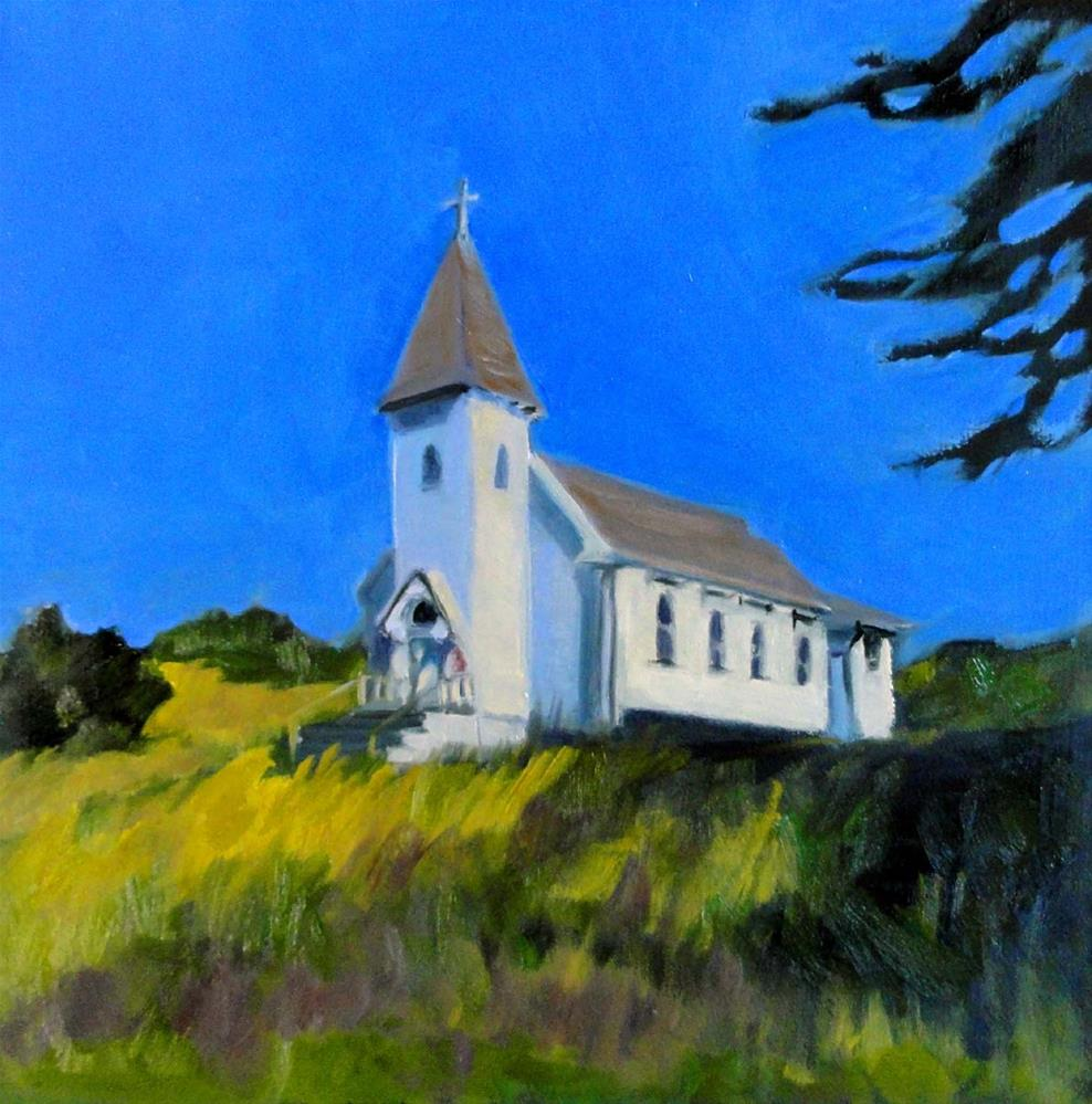 """The Church On The Hill"" original fine art by Cietha Wilson"