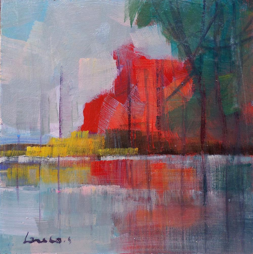 """Red reflection"" original fine art by salvatore greco"