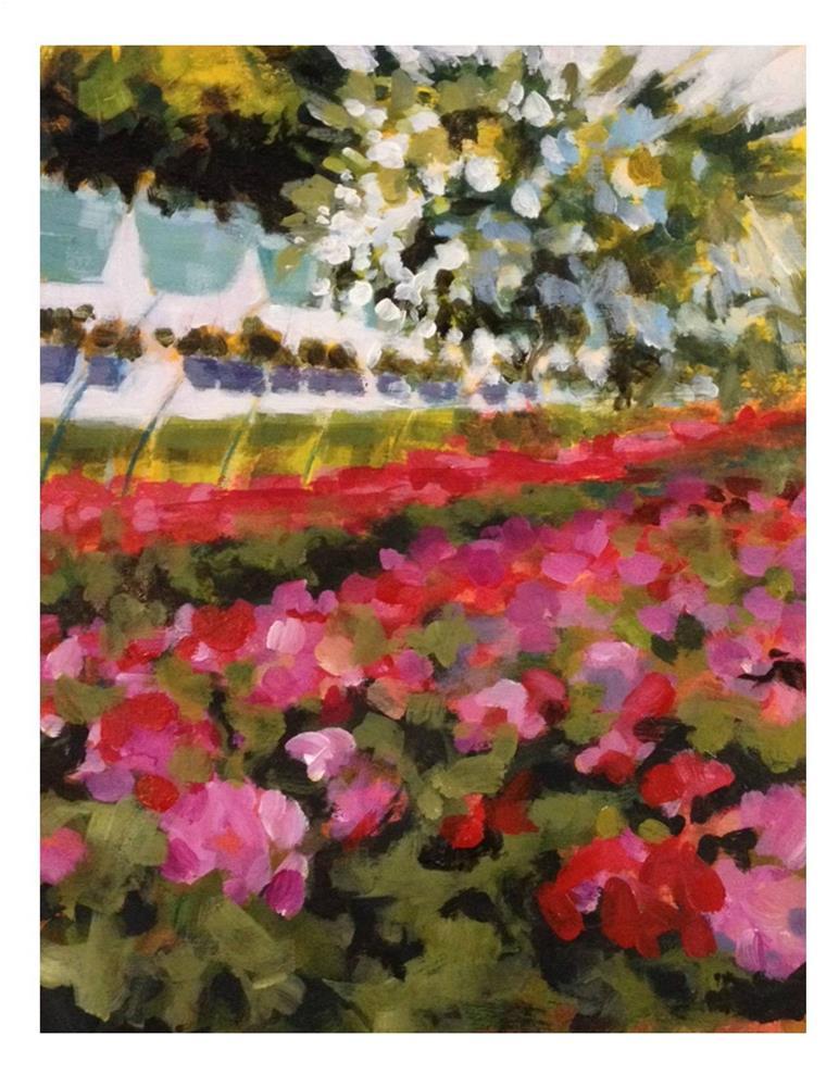"""Geraniums Galore"" original fine art by Suzanne Woodward"