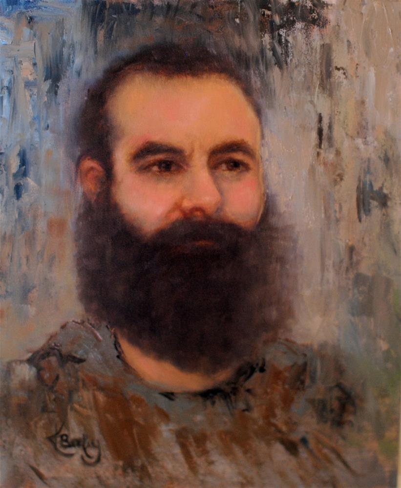 """Trevor's Beard"" original fine art by Kelly Berkey"