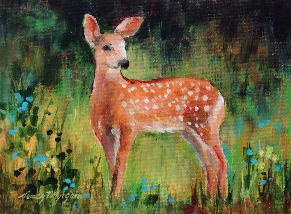 """Afternoon of the Fawn"" original fine art by Nancy F. Morgan"