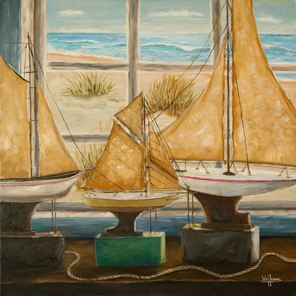 """The Captain's Collection"" original fine art by Sunny Williams"