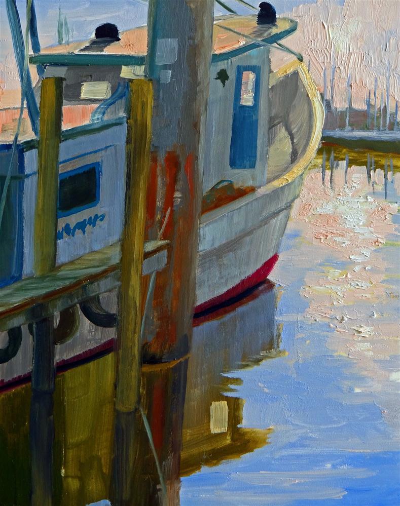 """Shrimp Boat, Kemah"" original fine art by Nancy Paris Pruden"