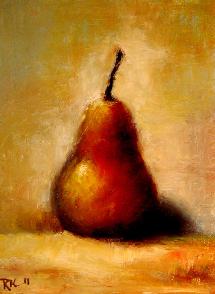 """A Bosc Pear"" original fine art by Bob Kimball"