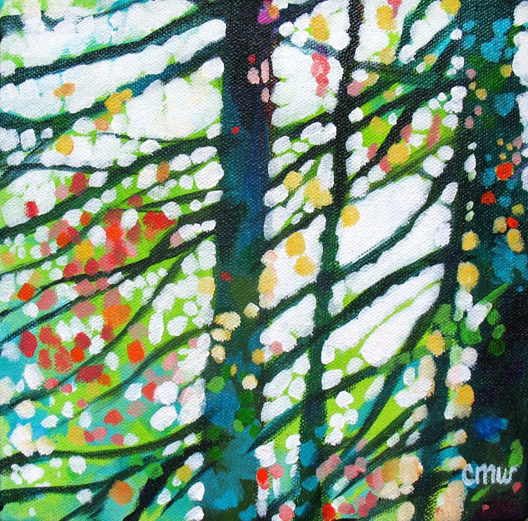 """Kaleidoscope Wood"" original fine art by Cindy Wentzell"