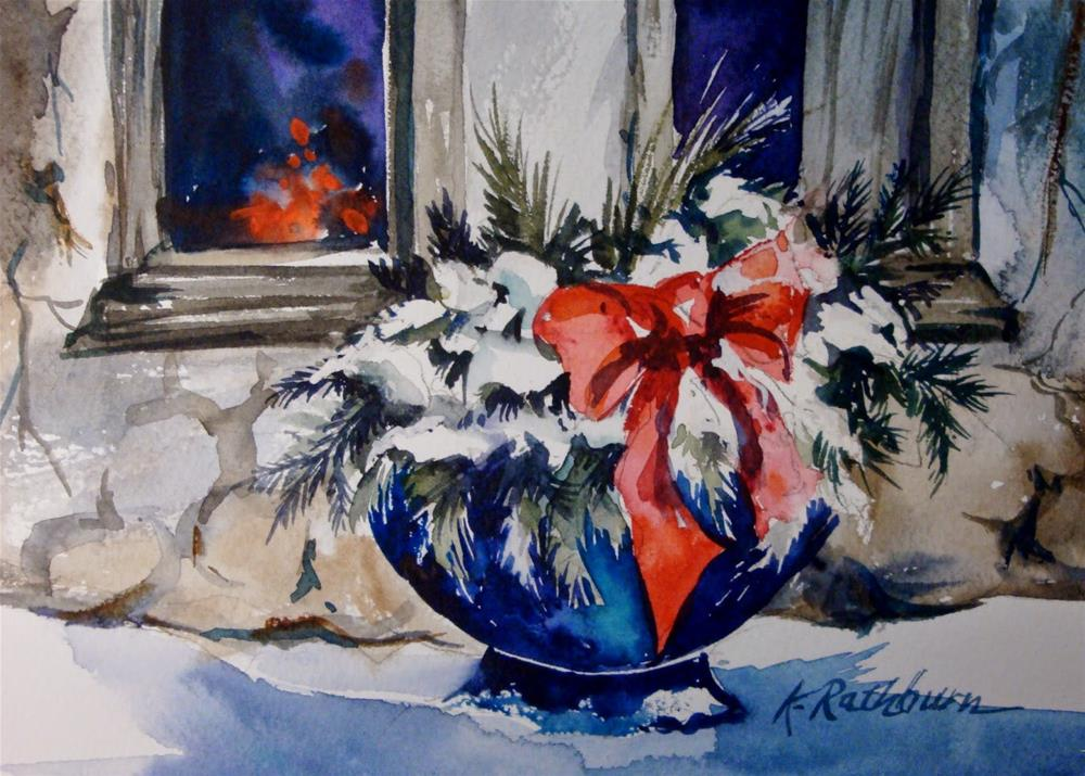 """Christmas Cheer - Painting IV"" original fine art by Kathy Los-Rathburn"