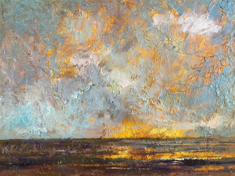 """Sunset, Contemporary Landscape Paintings by Amy Whitehouse"" original fine art by Amy Whitehouse"