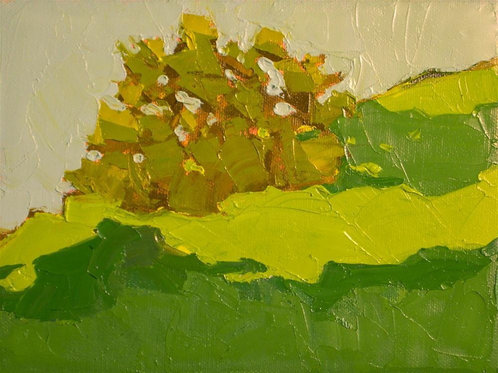 """Hilltop Scrub"" original fine art by Donna Walker"