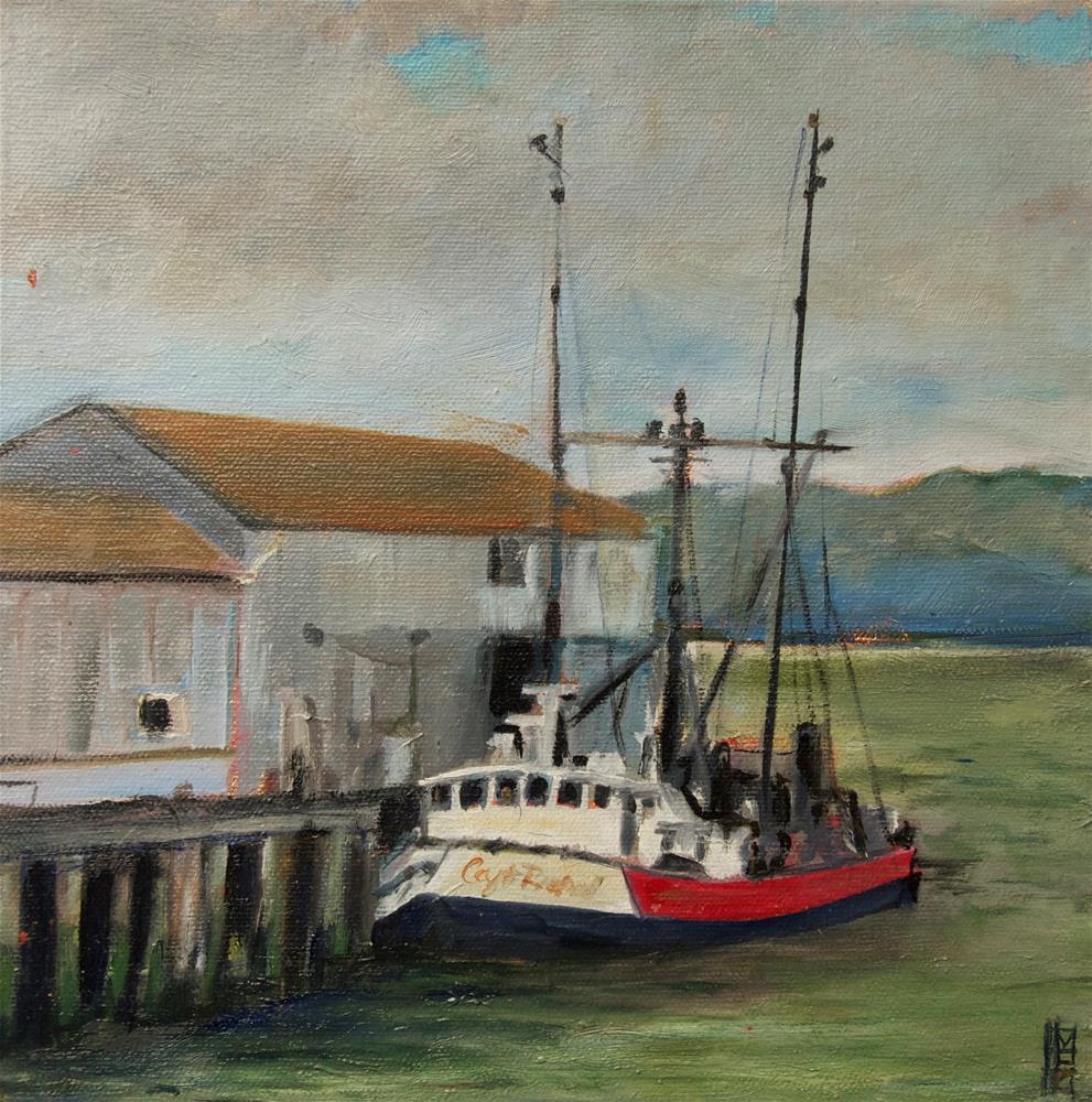 """Fishing Boat"" original fine art by Margot Cole"