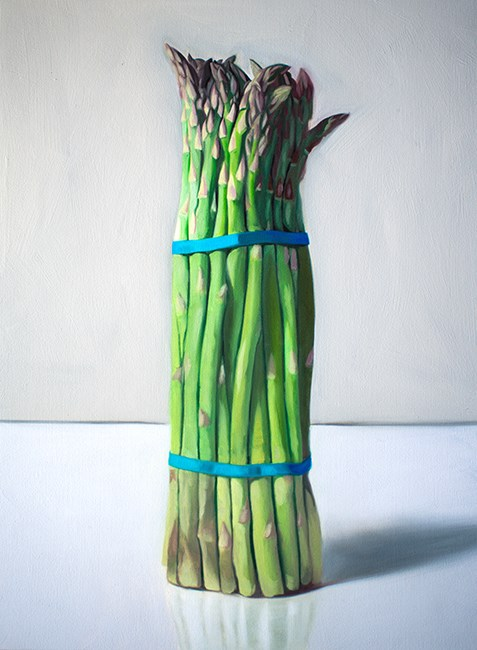 """Upright Asparagus"" original fine art by Lauren Pretorius"