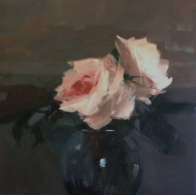 """Roses catching the light"" original fine art by Parastoo Ganjei"