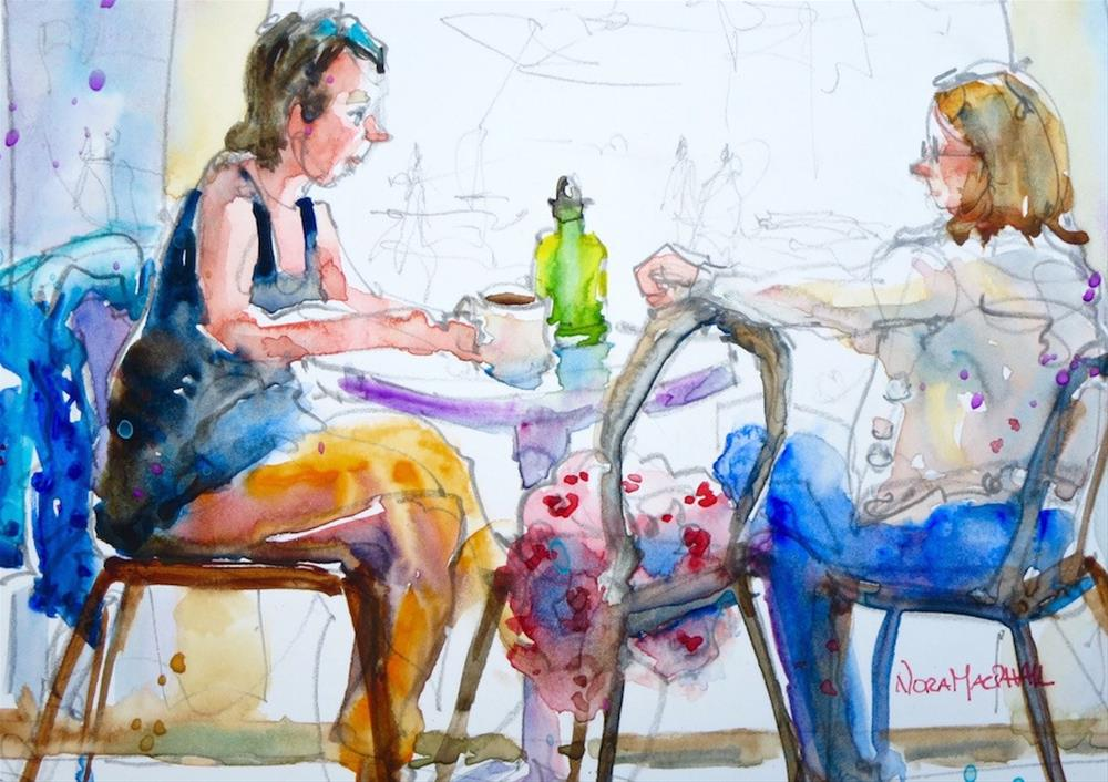 """""""tell me a story"""" original fine art by Nora MacPhail"""