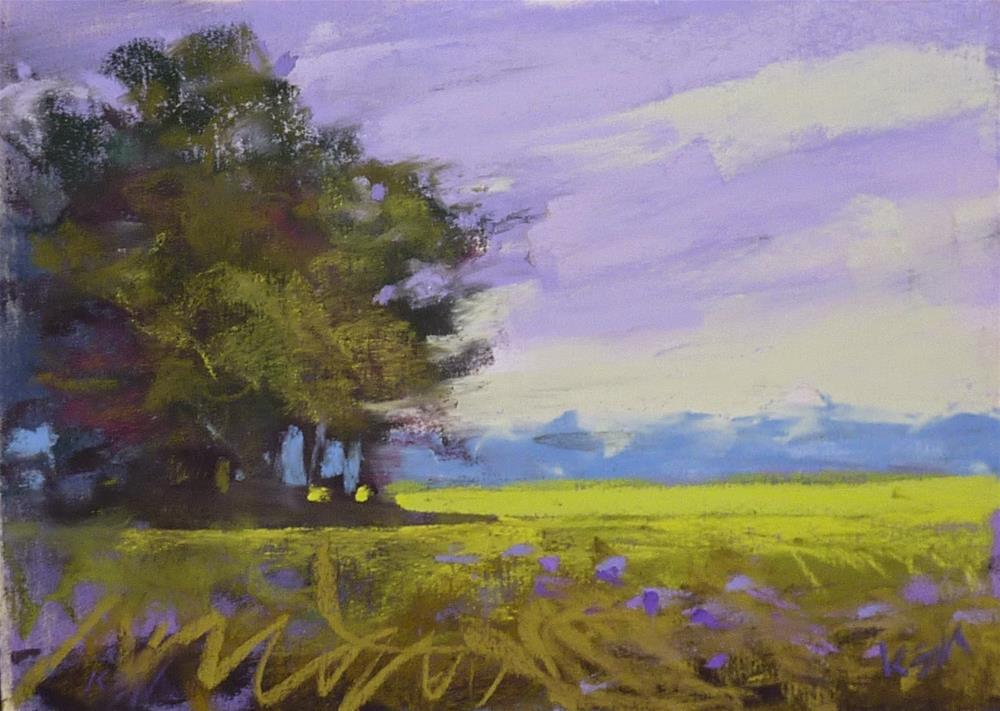 """New Video Blog Demo of a Quick Daily Painting"" original fine art by Karen Margulis"