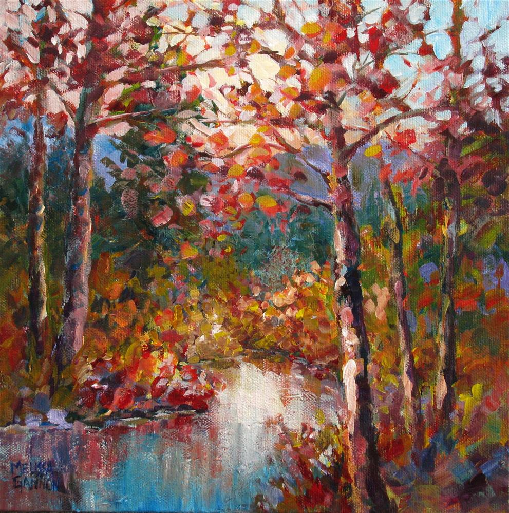 """Colors of the Riverbank"" original fine art by Melissa Gannon"