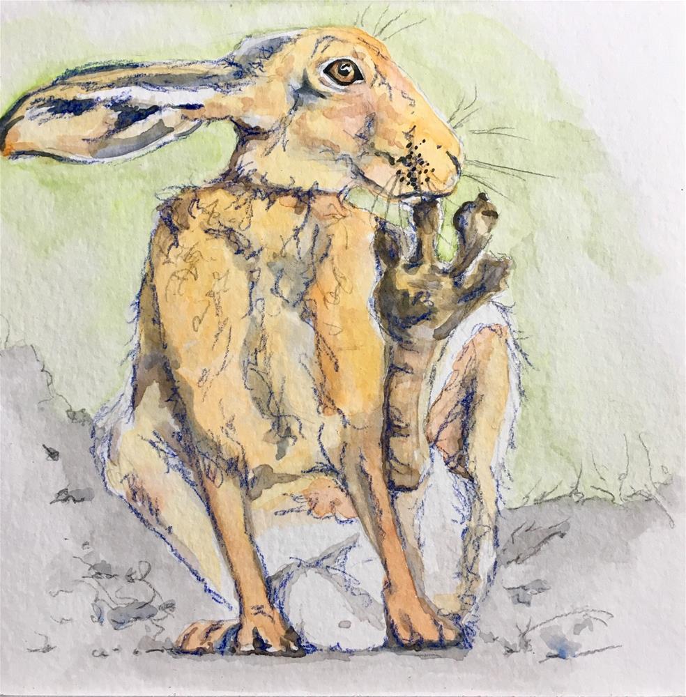 """Rabbit with Foot"" original fine art by Jen Holyer"