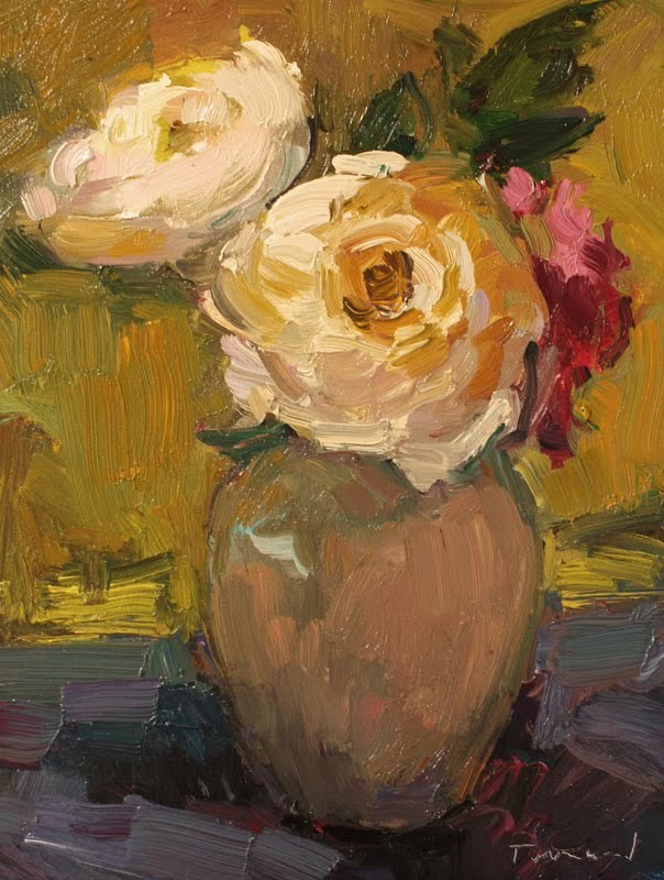 """White Roses"" original fine art by Kathryn Townsend"