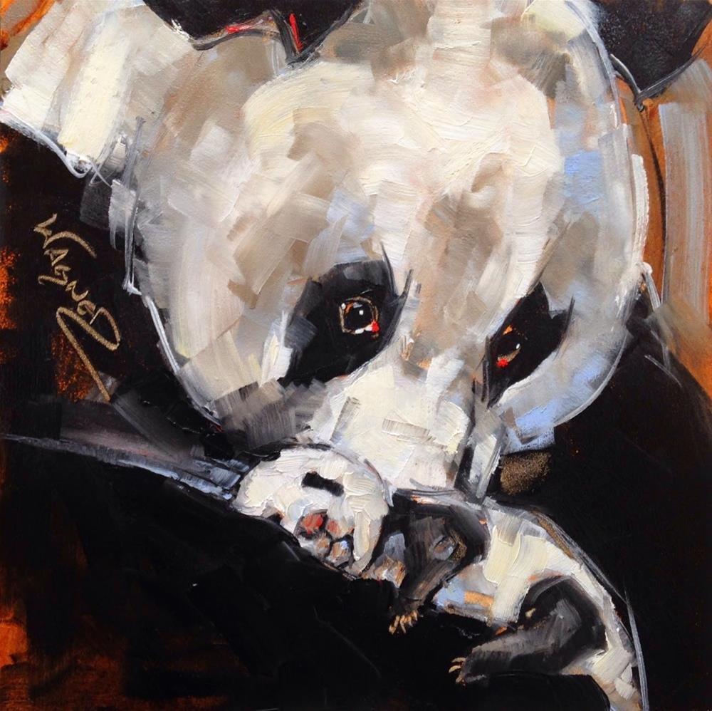 """ORIGINAL CONTEMPORARY PANDA BEAR PAINTING in OILS by OLGA WAGNER"" original fine art by Olga Wagner"