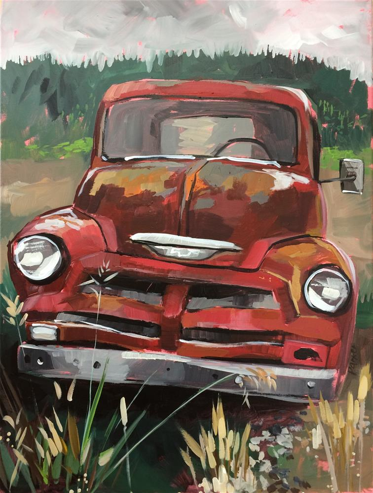 """This Old Truck Commission"" original fine art by Teddi Parker"
