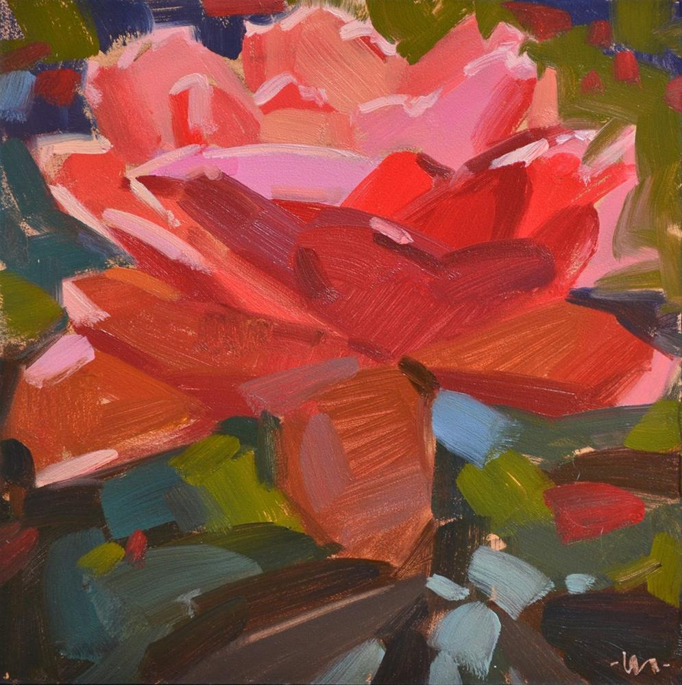 """Abstract Rose"" original fine art by Carol Marine"