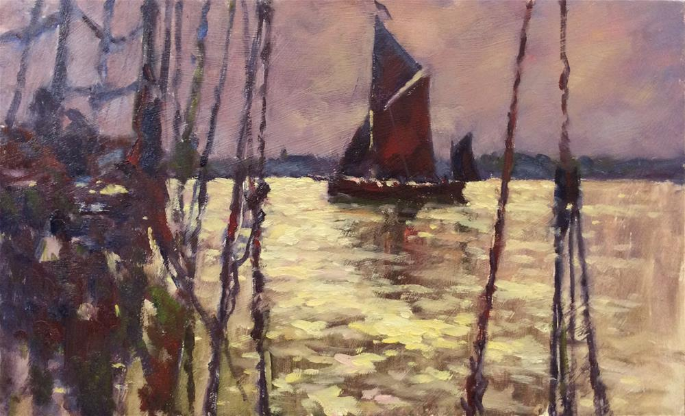 """During The Barge Match"" original fine art by John Shave"