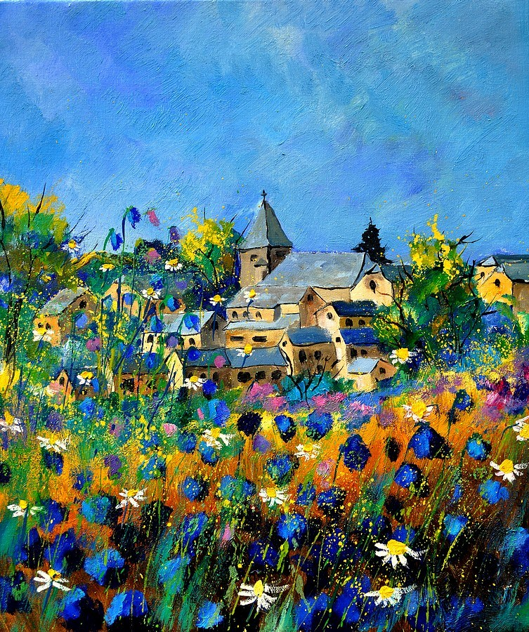 """summer in Awagne"" original fine art by Pol Ledent"