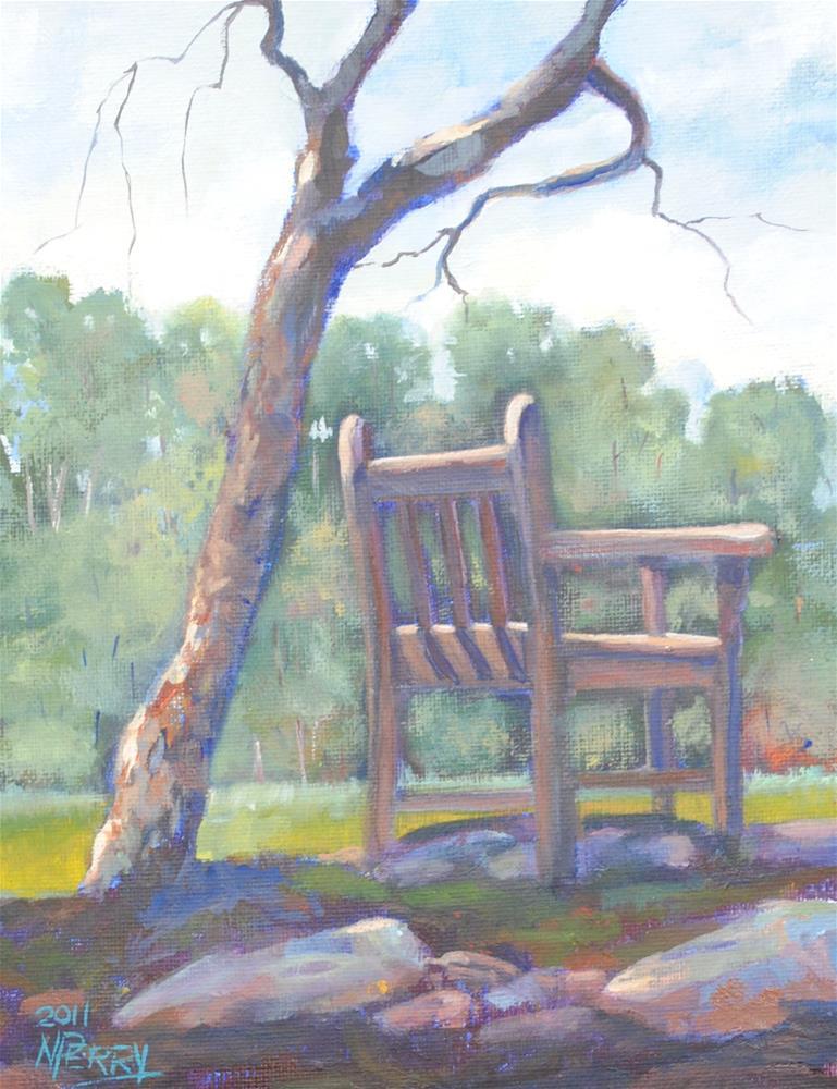 """""""Cheaha Chair"""" original fine art by Nan Perry"""