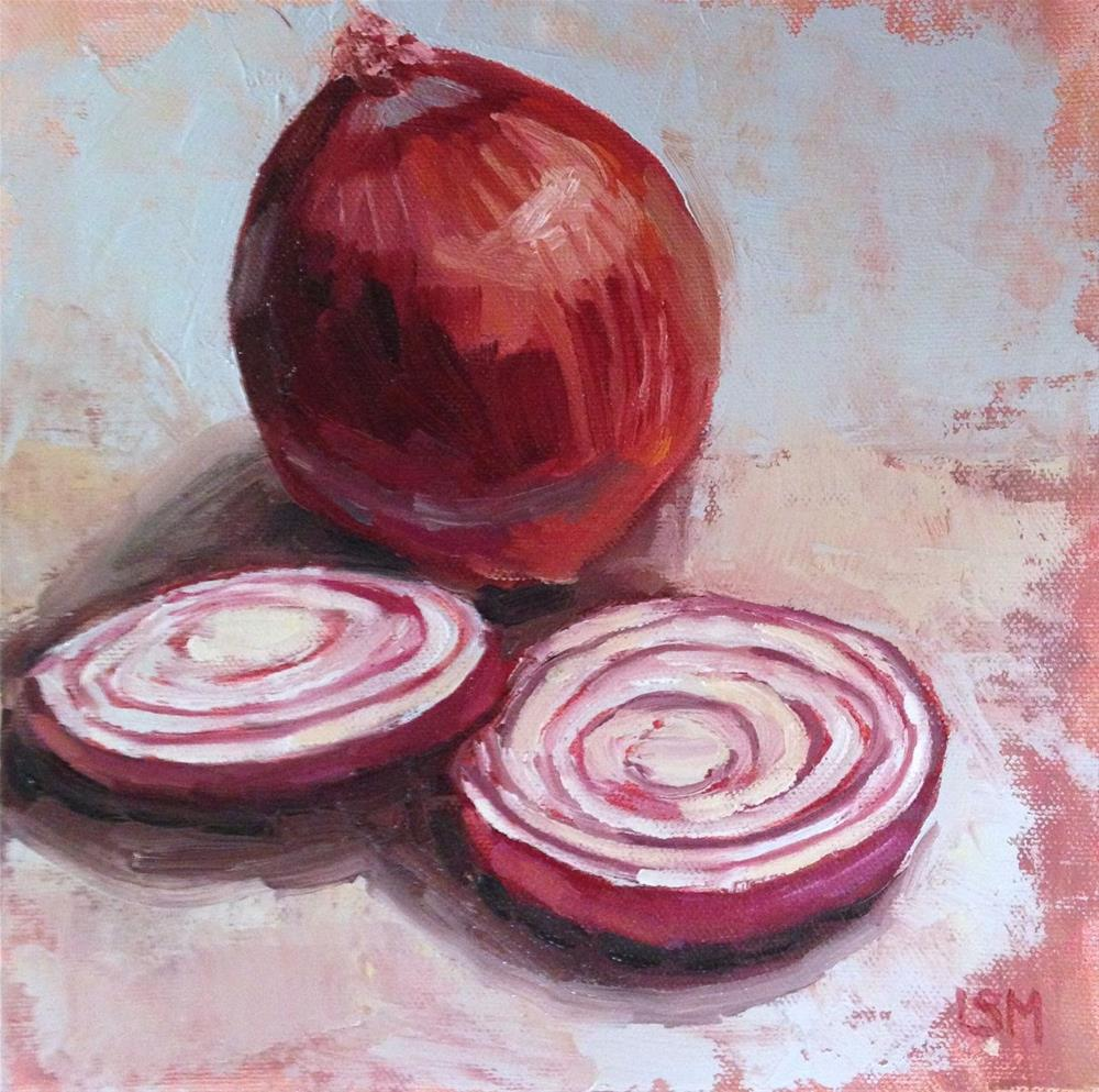 """Sliced Red Onion"" original fine art by Linda Marino"