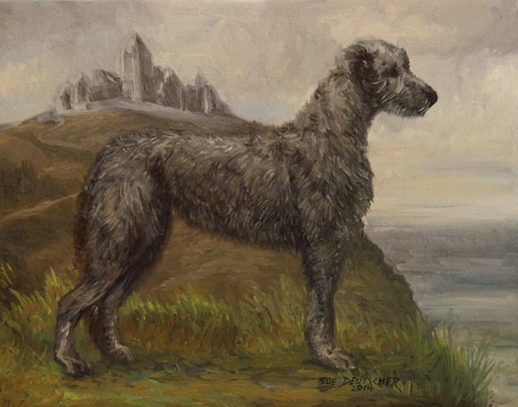 """""""Irish Wolfhound"""" original fine art by Sue Deutscher"""