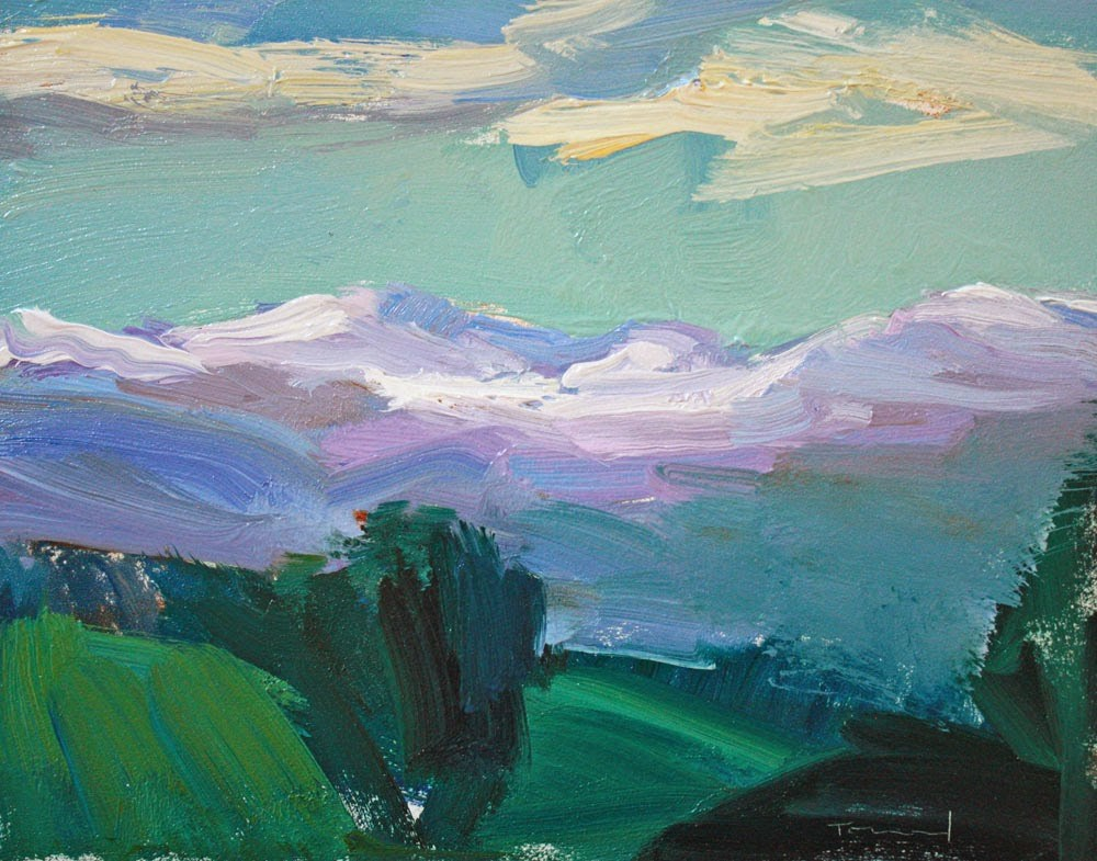 """View from Winthrop"" original fine art by Kathryn Townsend"