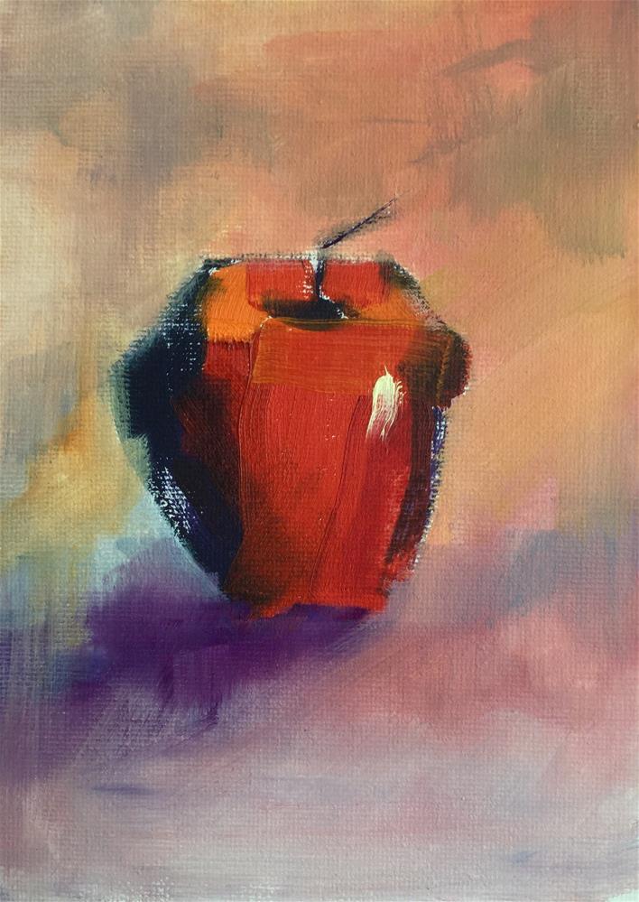 """For my teacher"" original fine art by Linda Carney"